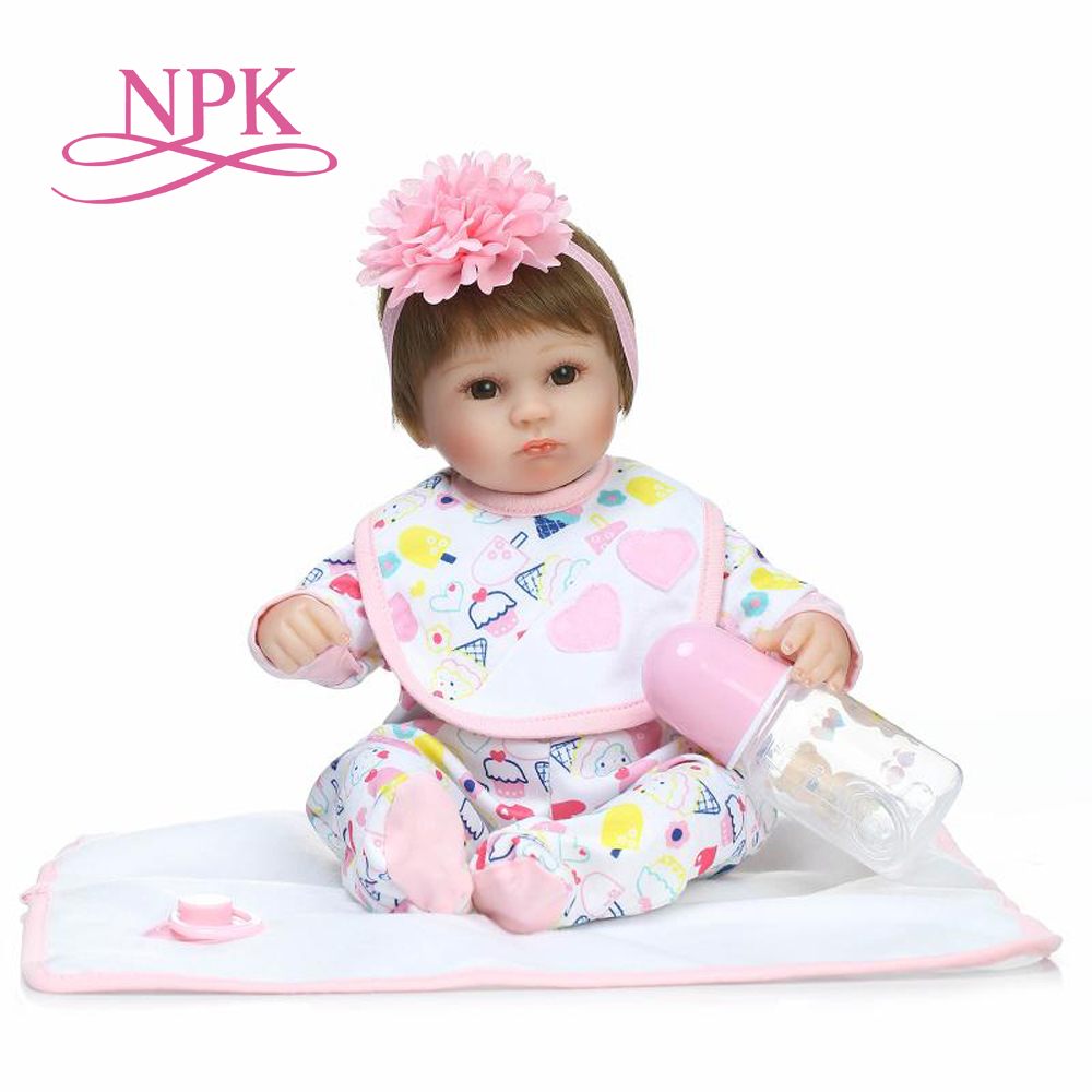 NPK lifelike soft lovely premmie baby doll realistic bebe reborn baby playing toys for kids Christmas Gift popular toys