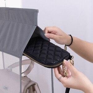 Image 5 - Wardrobe hanging organizer Tote bag hanging storage bag handbag organizer in the closet mesh purse handbag wardrobe organizer