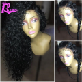 8A Deep Curly Lace Front Human Hair Wigs With Baby Hair Brazilian Virgin Hair Curly Full Lace Human Hair Wigs For Black Women