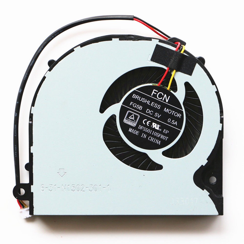 New Cpu Fan For XMG P406 P407 Pro Gaming Laptop Cpu Cooling Fan image