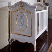 בית בסגנון אירופאי וילות  צרפתית גן  מוצק עץ תינוק מיטת  יוקרה אירופאי סגנון תינוק מיטה-בערכות ריהוט לילדים מתוך ריהוט באתר