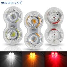 Современный автомобиль, один ряд, 2 лампы, мотоциклетный светодиодный светильник, 12 В, передняя противотуманная фара, DRL, с кронштейном, светильник s, автомобильный светильник Atmoshere