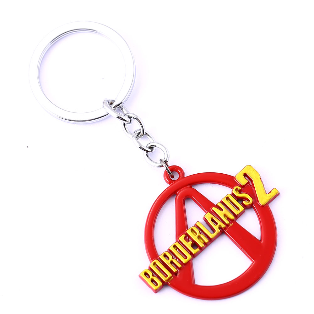 10/pcs/lot Borderlands Key Chain 2016 NEW Key Rings For Gift Chaveiro Car Keychain Jewelry Game Key Holder Souvenir YS11287