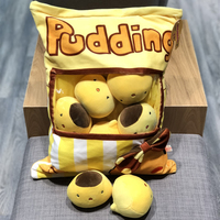 Cartoon cute little yellow chicken plush toy simulation small pudding snack pillow super soft cute soothing dolls to send girls