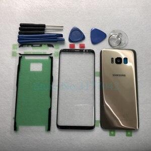 Image 3 - Для Samsung Galaxy S8 Plus S8 + G955F S8 G950 G950F Передняя Сенсорная панель Внешний объектив + задняя крышка батарейного отсека задняя стеклянная крышка корпуса
