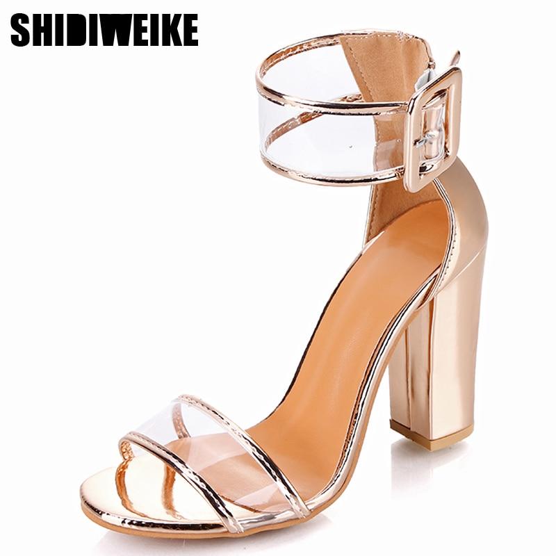 e00c5cfc14 Trabalho N697 Escritório Aberto ouro No Senhoras Vinho Dourado Moda Salto  azul Sandalias Sandálias Dedo Fivela Sapatos Alto De Mulheres branco ...