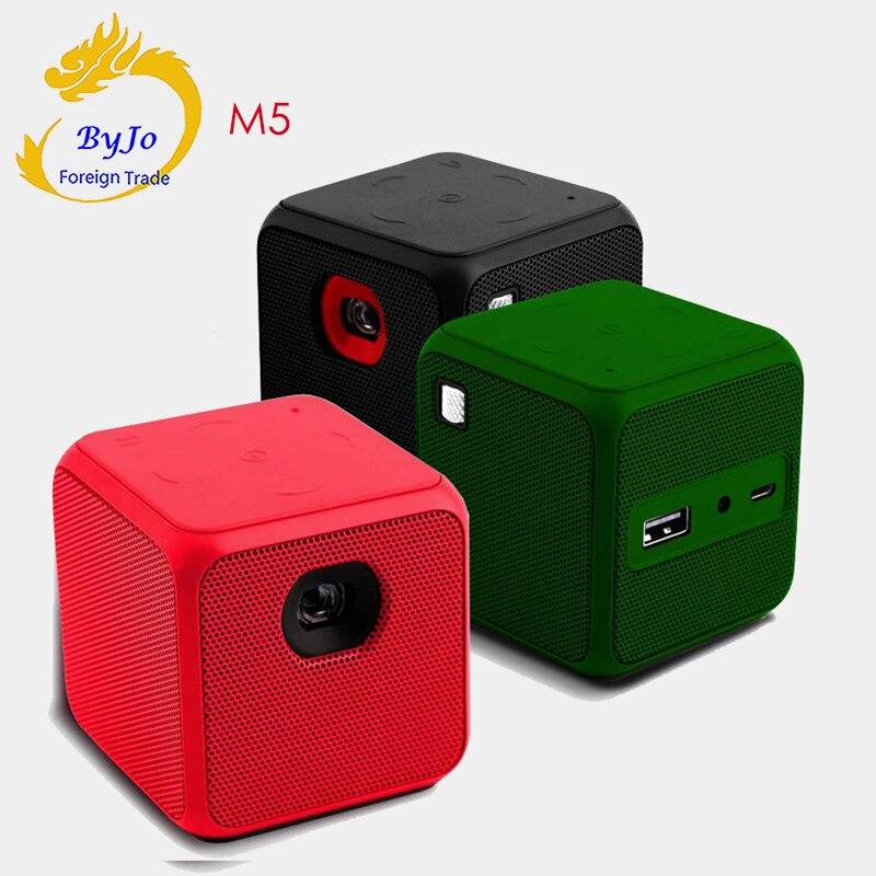 M5 Mini proiettore Android Dual band WIFI Home cinema Grande batteria proyector projetor DLP Tasca Pk P1 D6s G3 pro q8 DLP800W h96p