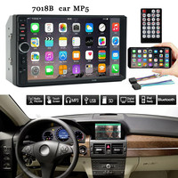 Car 7 Inch Double 2 Din Screen Car MP5 Player Bluetooth Stereo FM Radio +Reversing camera may27
