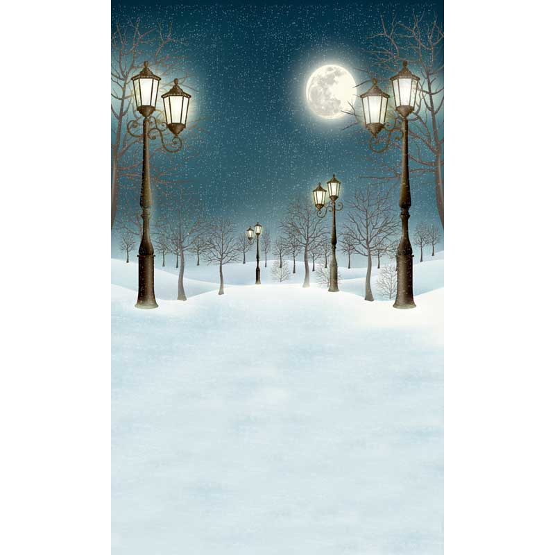 Vintage lamps snow road photography backdrops forest photo background for photo studio photography backgrounds camera fotografia fancy forest backdrops for photo outdoor shooting photography backgrounds for photo studio photographic background fotografia