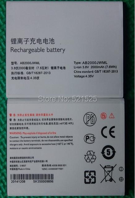 Envío gratis, batería Original para PHILIPS S337 teléfono móvil AB2000JWML para Xenium CTS337 teléfono móvil batería batería