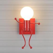 Lámparas de pared LED de Metal Vintage, sala de estar creativa para lámpara de pared, lámpara de noche para niños, Lámpara decorativa, accesorios de iluminación