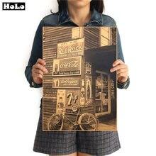 Винтажный магазин фото Плакаты Классический Кино здание для кафе для бара декоративный картины ретро Ностальгический крафт-бумага GGA06 42x30 см