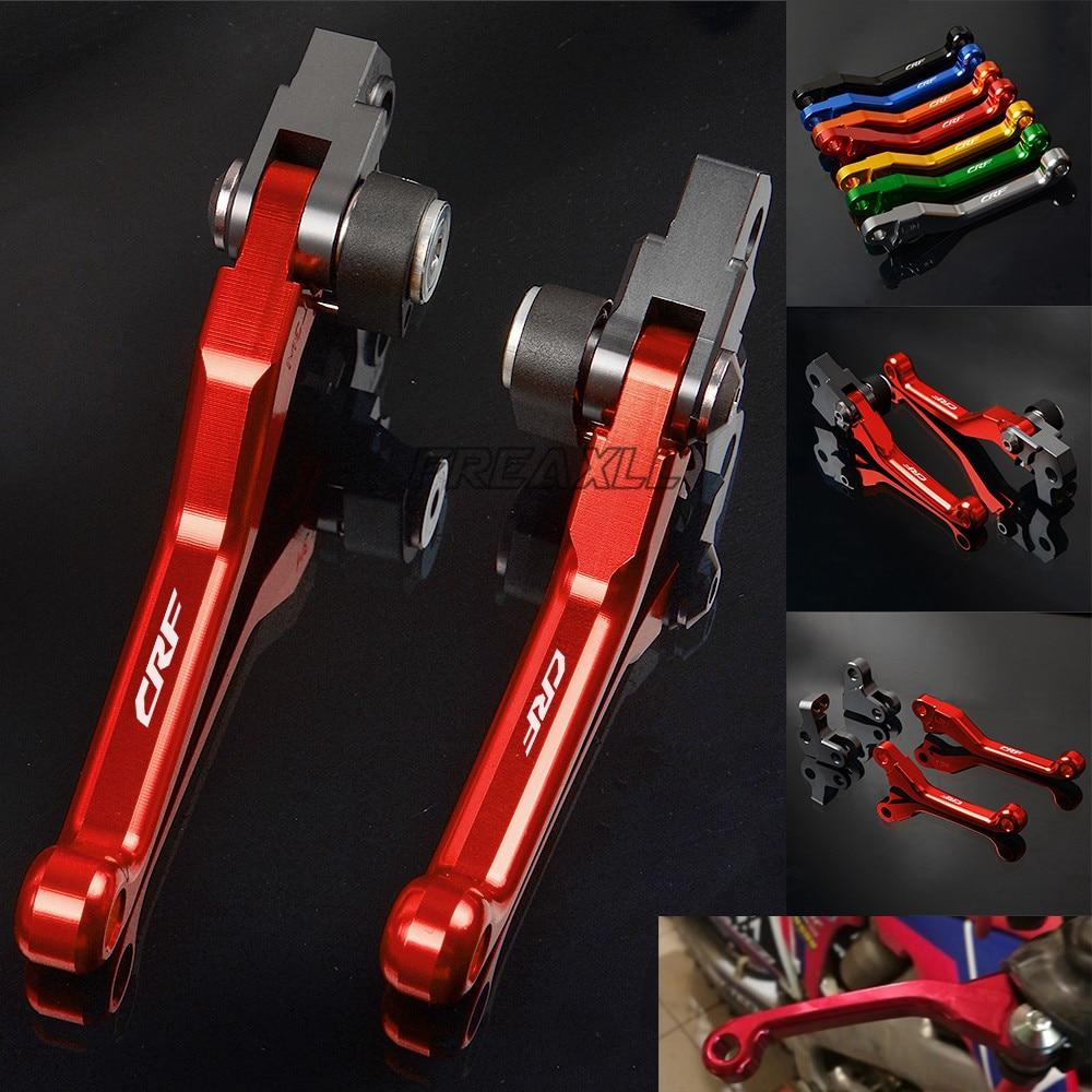 FREAXLL Pour Honda CRF250R CRF 250 R Logo Moto Accessoires CNC Pivot Moto Accessoires Pit Dirt Bike Frein D'embrayage Leviers