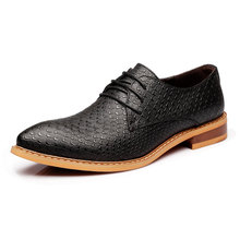 snake skin ballet flats luxury brand men shoes 2016 fashion original top quality male unique dress footwear oxford shoes for men