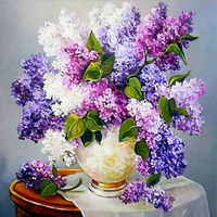 Diamond Painting Flowers Lilac Pictures Of Rhinestones DIY 5d Landscape Sets For Embroidery With Beads Set