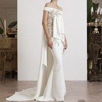 Dubai Designer Evening Dresses Mermaid Vestidos De Festa Elegant Long Evening Dress Robe De Soiree Embroidery Evening Gowns