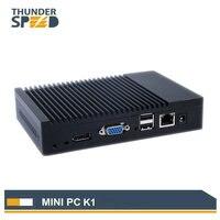 מכירה חמה Mini מחשב Windows7 לינוקס אובונטו מיני מחשב Quad Core 2 גרם RAM 32 גרם 64 גרם SSD Wake on LAN רעם מהירות משלוח חינם