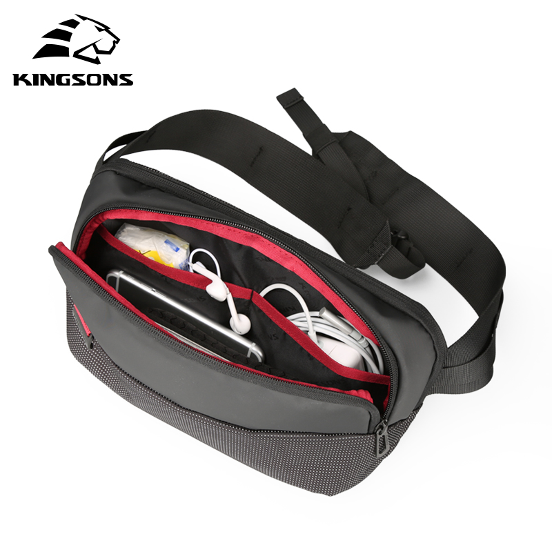 Kingsons Chest Bag Waist Pack for Men Small Single Shoulder Back pack Style Bum Bag Women Money Belt Travelling Mobile Phone Bag