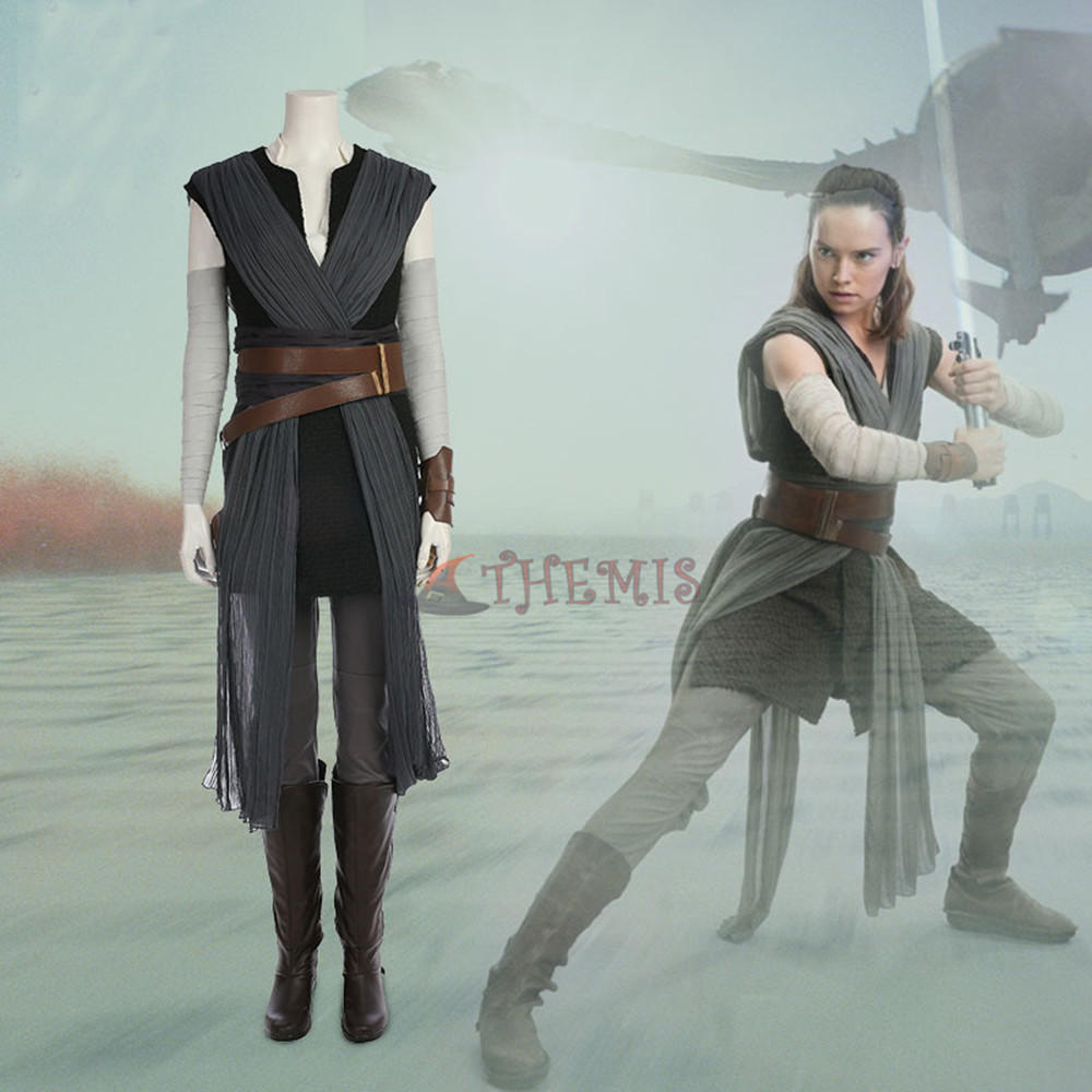 Athemis  Star Wars The Last Jedi Rey B paragraph Cosplay Costume custom made Dress High Quality