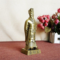 Chinese First Emperor Of Qin Figurines China Tour Souvenir Decoration Retro Antique Figurines Household Office Ornaments