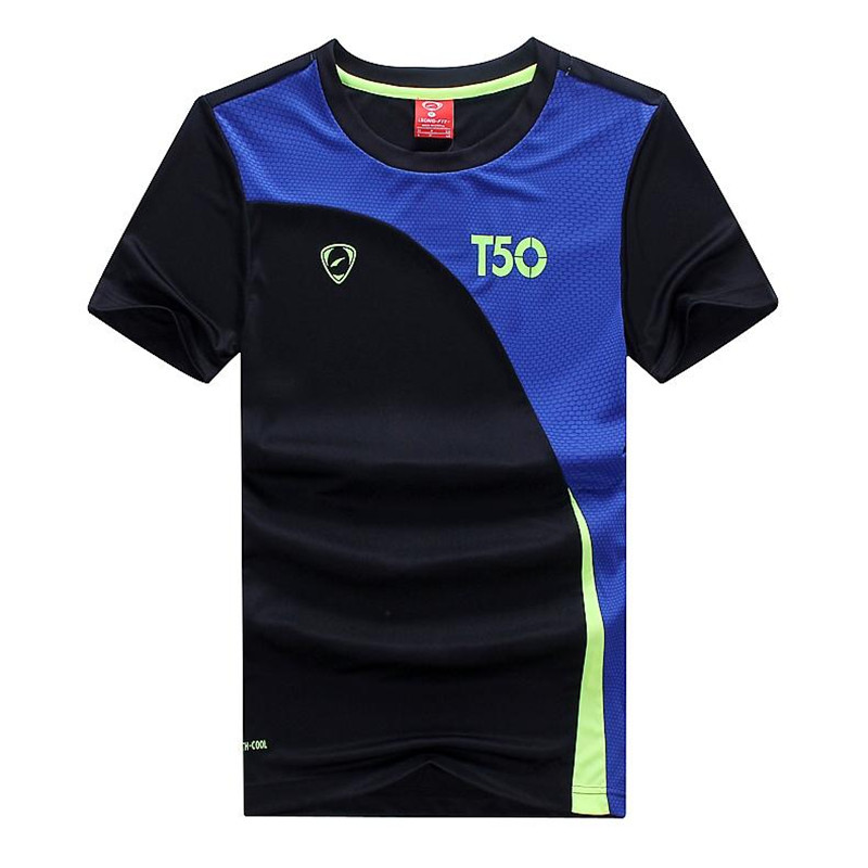 new Summer wear movement leisure men Round collar With short sleeves T-shirt Quick drying sweat Football training suit Workout