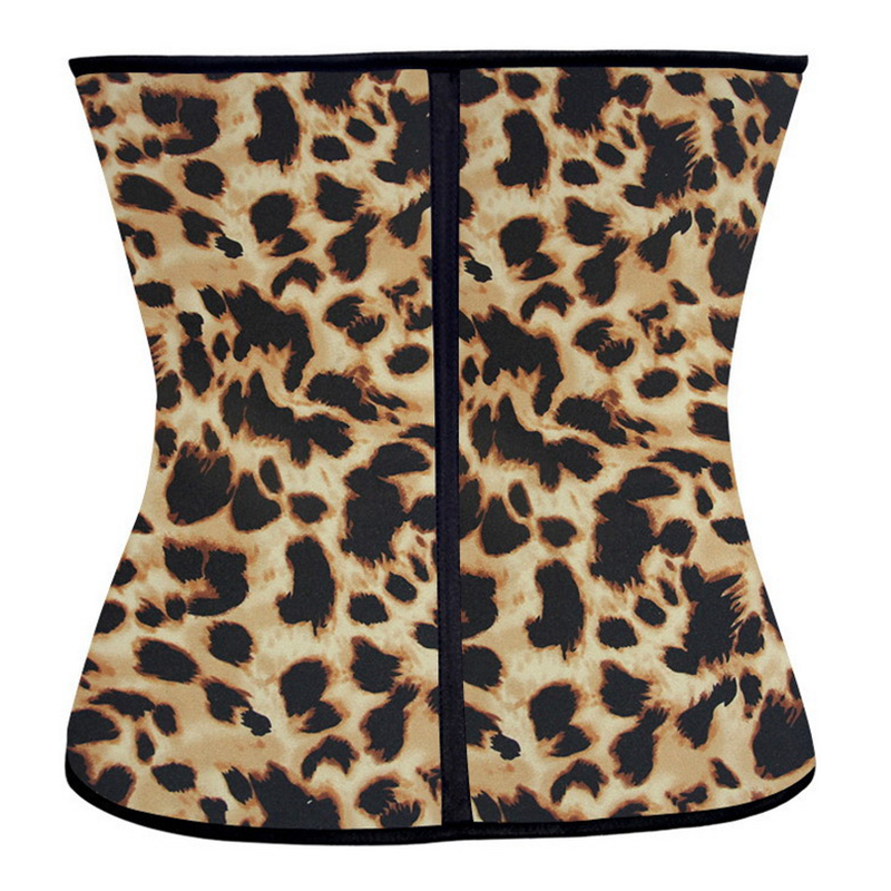 Leopard latex waist cincher shapewear sexy corset waist Trainer corsets korsett for women fajas postparto ceinture minceur
