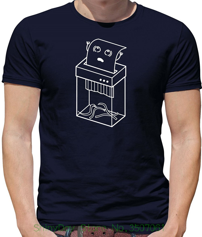 Summer Short Sleeve Cotton Paper Shredder - Mens Crewneck T-shirt - 7 Colours ...
