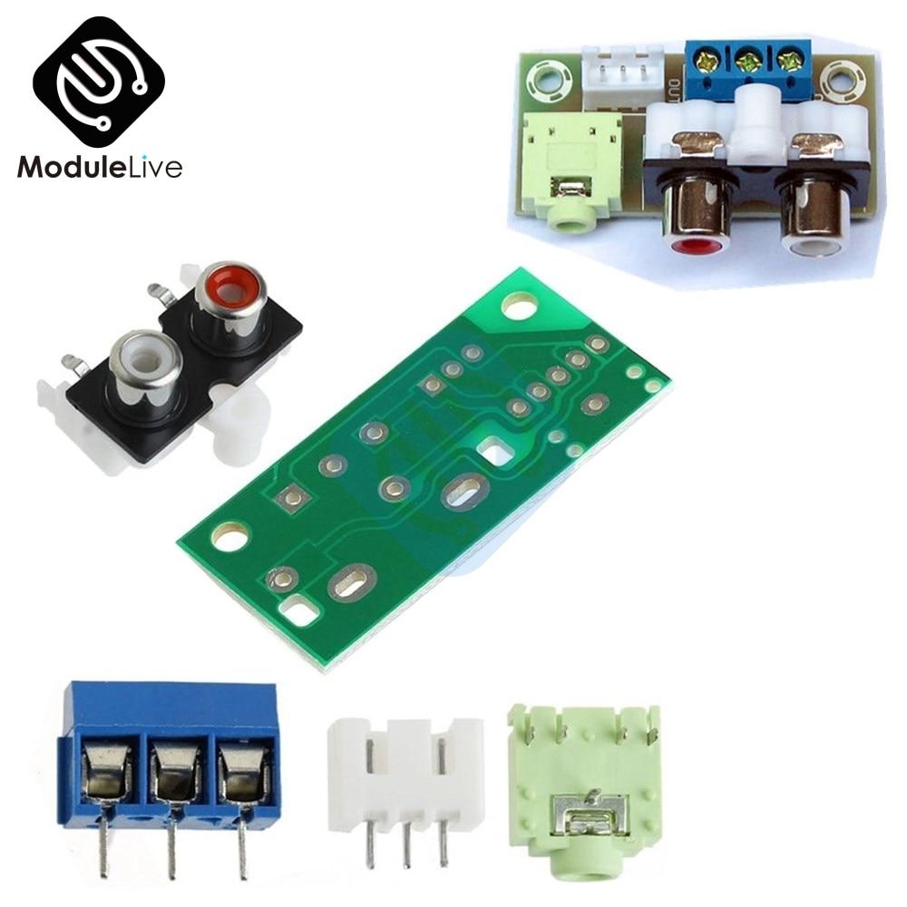 DIY Kit Audio Switch Board RCA  Block Audio Input Module Board 3.5mm For Amplifier Electronic Kits