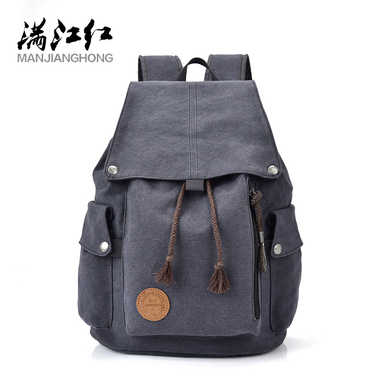 MANJIANGHONG Retro Casual Canvas Travel Bag Upscale Wild Fashion Backpack Large Capacity Simple College Wind Backpack рюкзак fashion tender 2015 z 082 canvas bag fashion college backpack women vintage backpack
