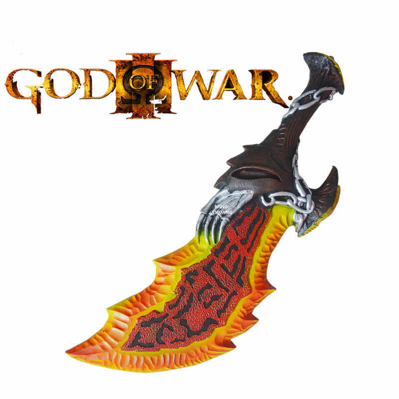 "26"" God Of War Kratos 1:1 Chaos Blade Ghost Of Sparta Cratos Blades Of Chaos Cosplay Blades Of Athena Action Figure Model Toy"