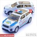 Горячие мини diecast автомобилей 1:43 Land Rover ВНЕДОРОЖНИК имитационной модели полицейский автомобиль отступить сплава toys для детей подарки