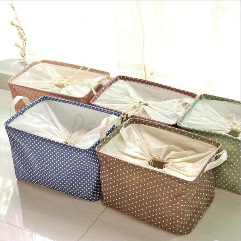 Square Collapsible Canvas Storage Box Foldable Kids Toys: New 38*36*26CM Cotton Linen Laundry Basket Waterproof