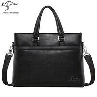 Кенгуру Королевство Роскошная натуральная кожа сумка известный бренд мужчины сумка сумки деловые мужчины портфель, сумка для ноутбука
