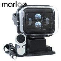 Marloo 1 шт. 7 дюймов 60 Вт 360 градусов Беспроводной удаленного Управление светодио дный прожектор морской поиск свет 12/24 В для грузовик внедорожн