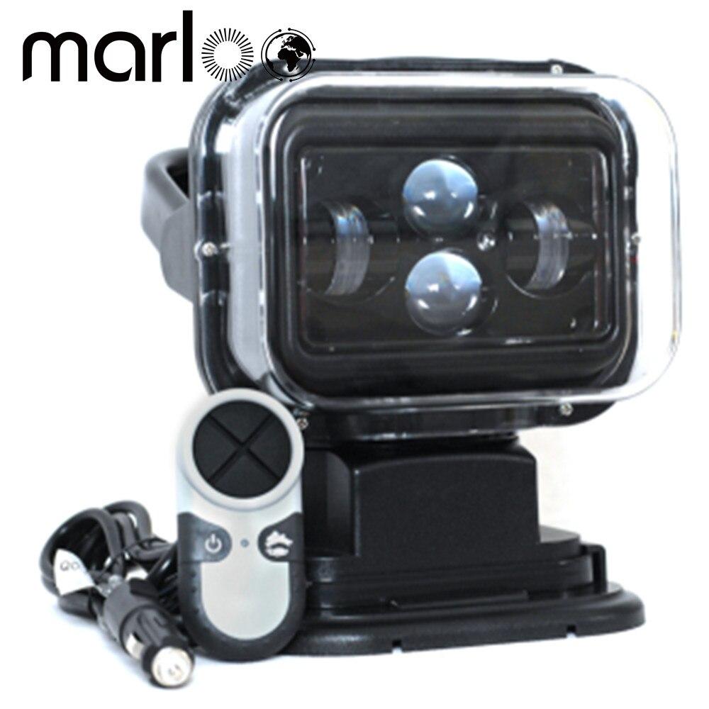 Marloo 1 pcs 7 pouce 60 w 360 Degrés Télécommande Sans Fil A Mené Le Projecteur De Recherche Marine Lumière 12/24 v Pour Camion Hors-route 4x4 Bateau