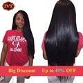 Indiano virgem cabelo liso queen hair products 3 pcs 7a cabelo virgem reta de seda remy virgem indiano do cabelo humano em linha reta tece