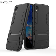 For Huawei Honor 8S Case Rubber Robot Armor Hard PC TPU Back Phone Cover for Protective