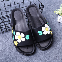 Women Slippers Summer Beach Shoes Flower Flip flops Women Slippers Fashion Platform Sandals Women's Non-slip Shoes Size 36-40 big bowtie woman beach flip flops summer sandals slip resistant slippers platform sandals size 34 40