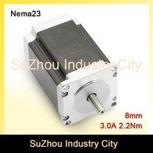 NEMA 23 С ЧПУ Шагового Двигателя 57×82 мм 2.2nm D = 8 шаговый двигатель 3А 315Oz-in для продажи Чпу Гравировки фрезерный станок 3D принтер