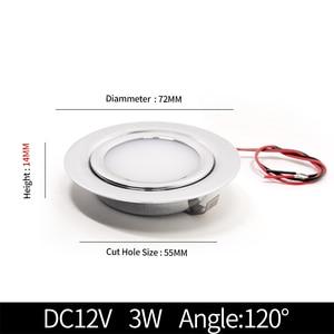 Image 2 - 4/8PCS Stainless steel waterproof LED spotlight IP65 bathroom Ceiling or boat Built in outdoor house Slim mini 12V downlight
