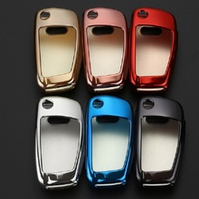 Car Key Protection Cover Case For Audi C6 A7 A8 R8 A1 A3 A4 A5 Q7 A6 C5 Holder Shell Car-Styling  Soft TPU Styling