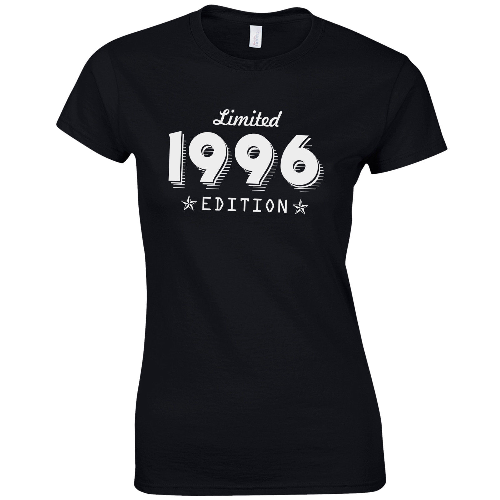 Black t shirt quotes - T Shirt Quotes Short Sleeve Graphic O Neck Limited Edition 1996 Fitted Born 21st Year
