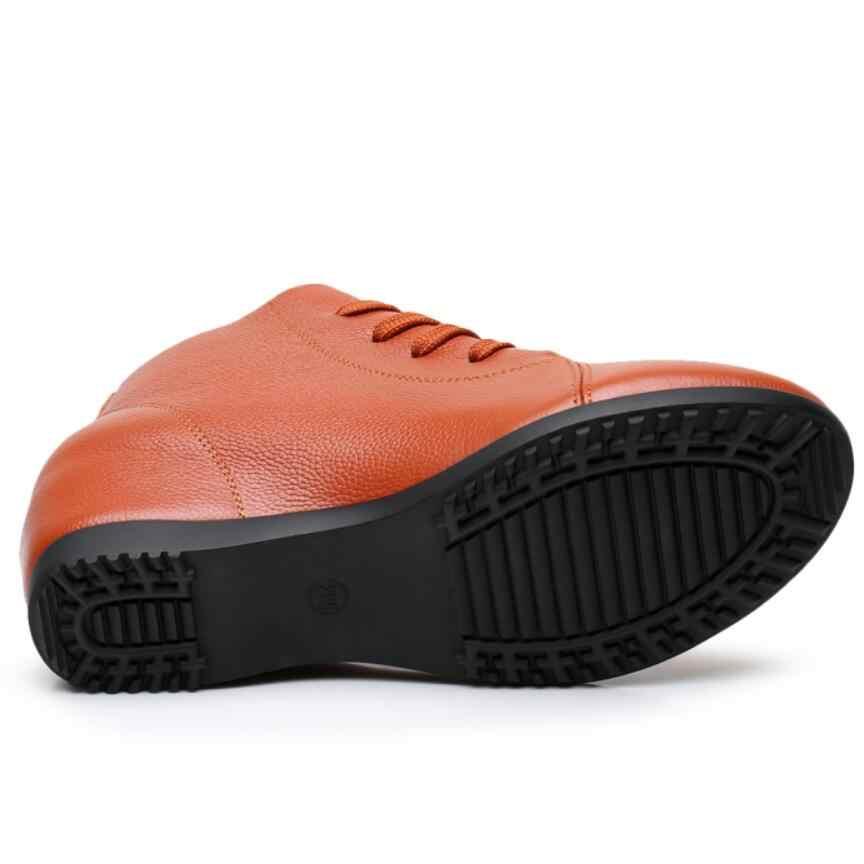 Gktinoo Plus Size 34-43 Nữ Giày Nữ Người Phụ Nữ Da Thật Chính Hãng Da Nêm Cổ Chân Giày Giày Tăng Chiều Cao Giày Giày Bốt Nữ mùa Đông