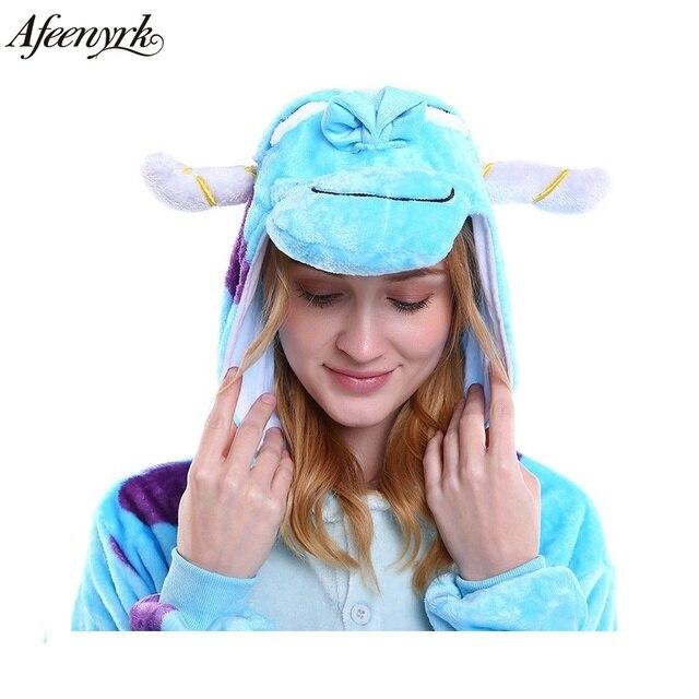 2017 Women Pajamas Sets unicornio Stitch Panda Unisex Cartoon Sleepwear Cosplay Animal World for Homewear Man Winter Pajama
