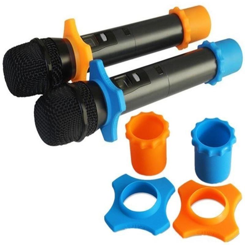 1 Set Silikon Mikrofon Anti-slip Roller Ring Handheld Mikrofon Zubehör Mic Schutz Für Karaoke Mikrofon