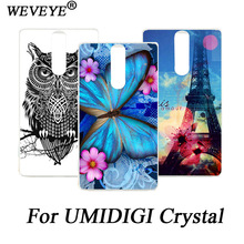 ФОТО fashion diy colored pained flowers animals and eiffel towers phone case for umidigi crystal back cover case for umidigi crysta