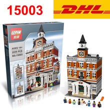 2016 DHL Lepin 15003 2859 PCS City Creator 10224 Town Hall Sets Model Building Kits Minifigure