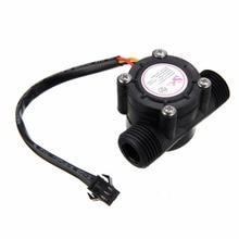 цена на 1/2'' Water Flow Sensor 1-30L/min Hall Flowmeter Temperature Sensor for Arduino Turbine Flowmeter Measure Temperature Instrument