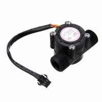 1/2'' Water Flow Sensor 1-30L/min Hall Flowmeter Temperature Sensor for Arduino Turbine Flowmeter Measure Temperature Instrument