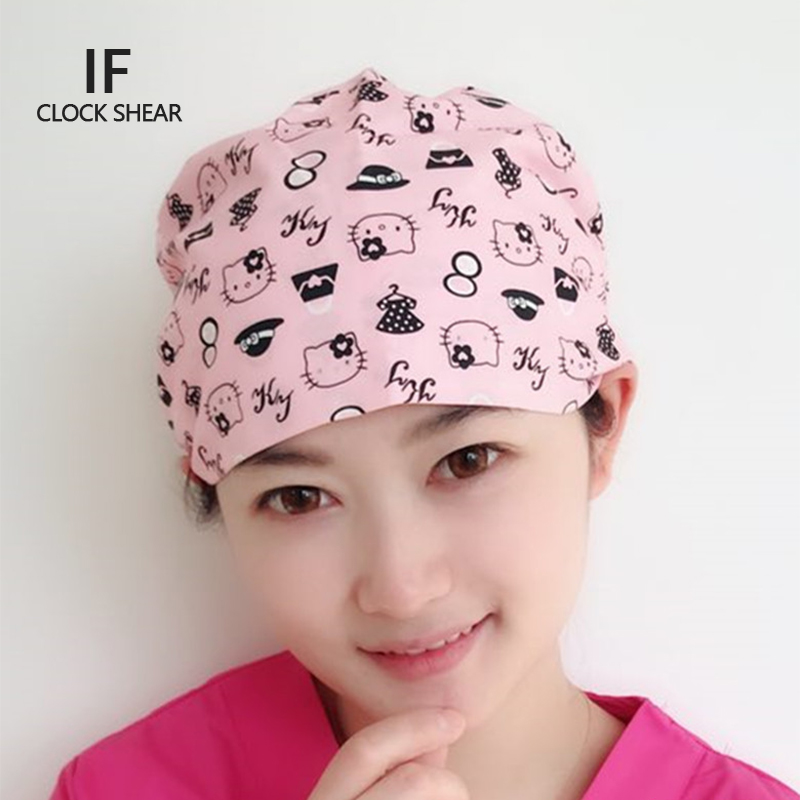 IF new Pet Doctor Cap/hats Medical Surgical Scrub Caps Surgical Surgeon's Surgery Camouflage Color Cap Dentist cat